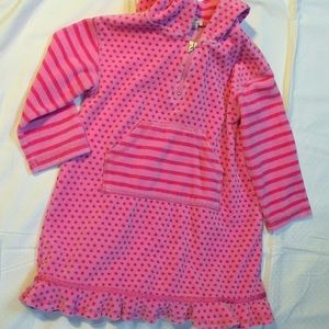 girls SOFT VELOUR HOODED DRESS by MONSOON 3/4